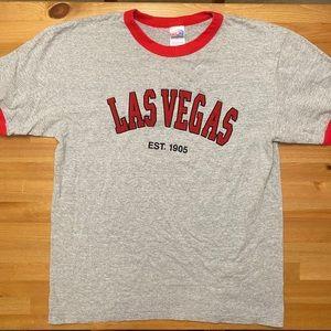 Las Vegas Spellout Vintage Baseball T-shirt